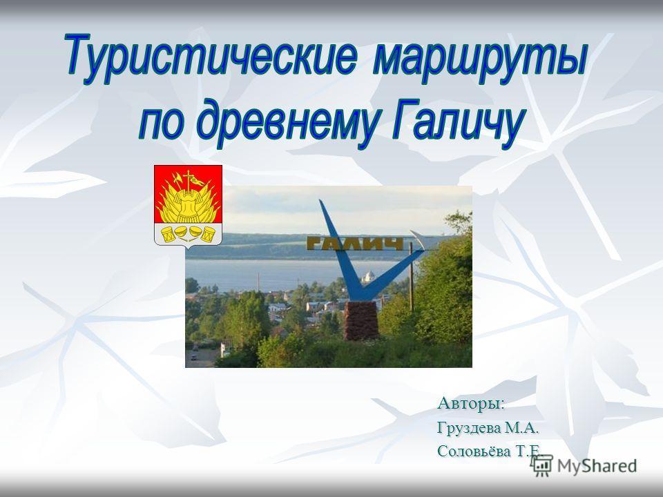 Авторы: Груздева М.А. Соловьёва Т.Е.