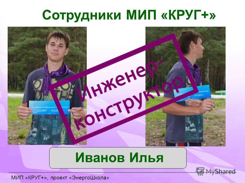 Сотрудники МИП «КРУГ+» Иванов Илья МИП «КРУГ+», проект «ЭнергоШкола»