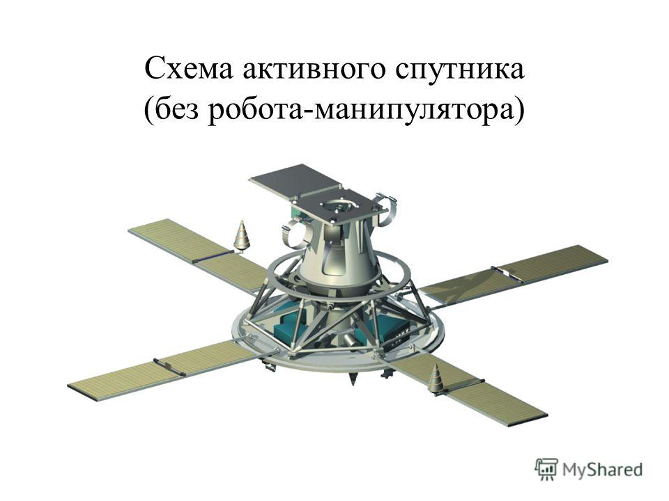 Схема активного спутника (без робота-манипулятора)