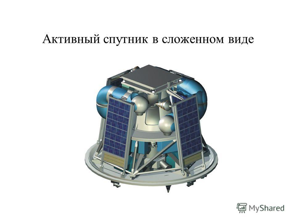 Активный спутник в сложенном виде