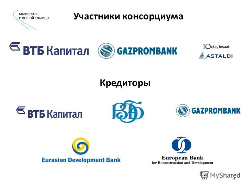 Участники консорциума Кредиторы 4