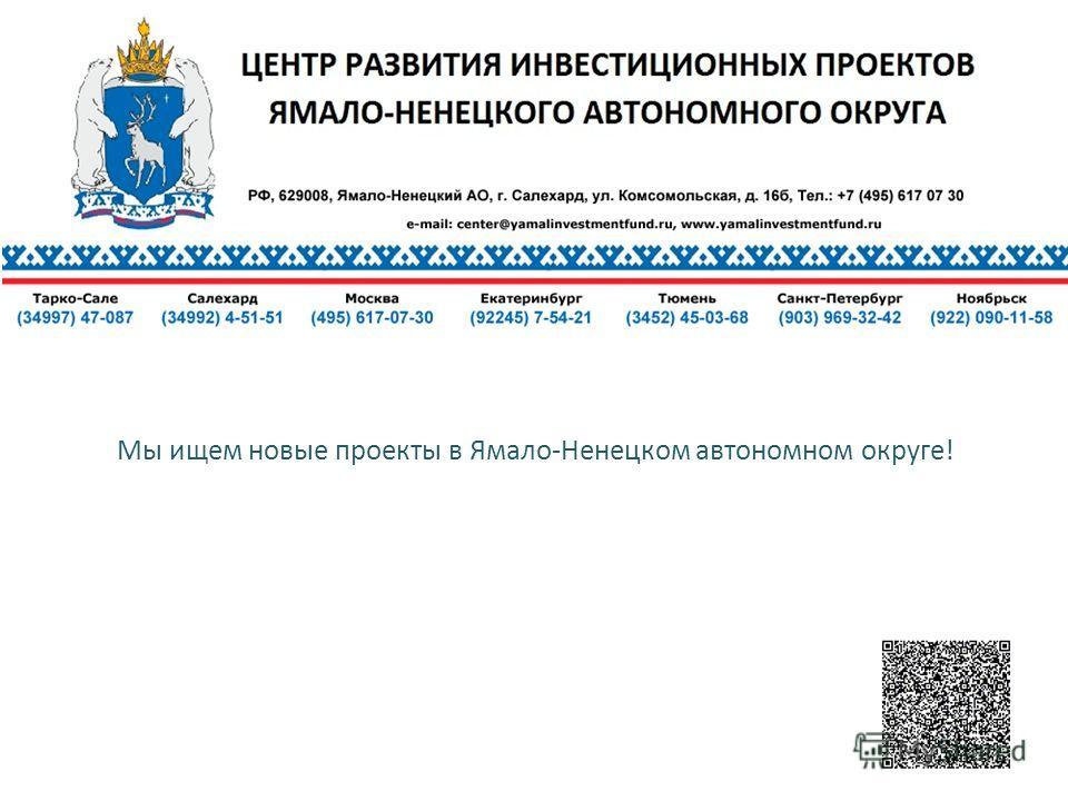 Мы ищем новые проекты в Ямало-Ненецком автономном округе!