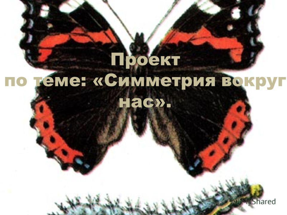 Проект по теме: «Симметрия вокруг нас».