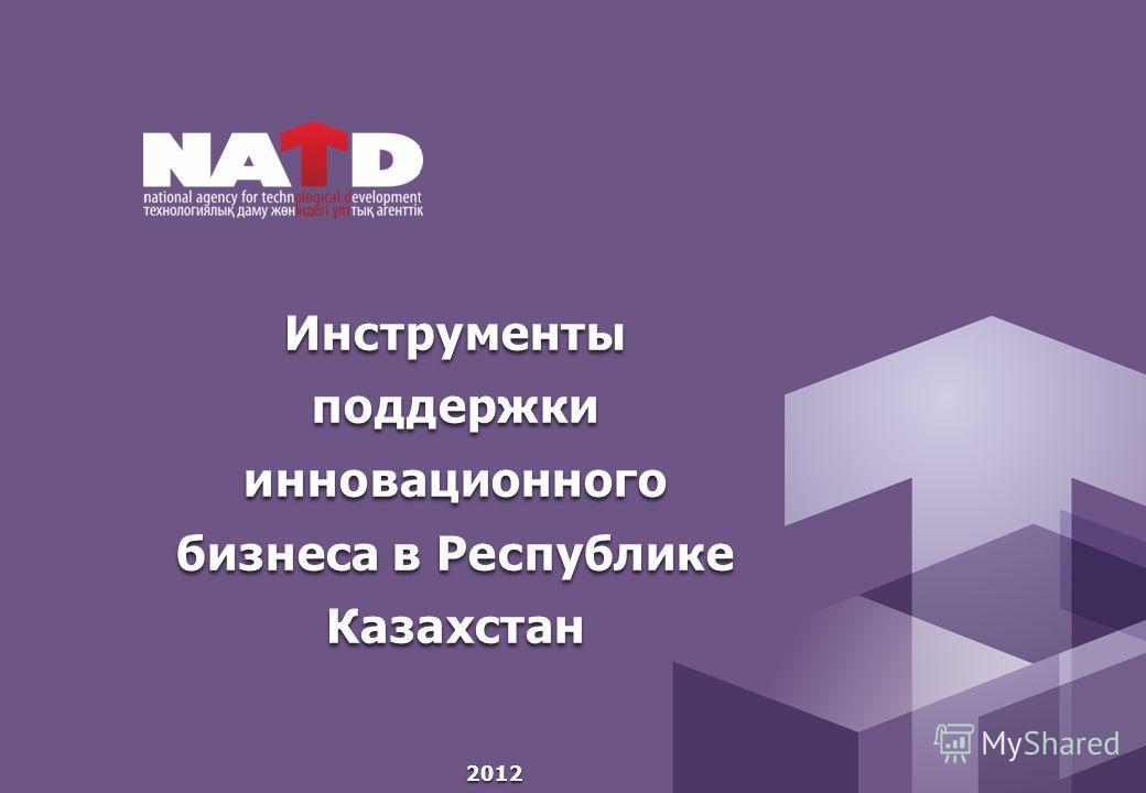 Инструменты поддержки инновационного бизнеса в Республике Казахстан 2012
