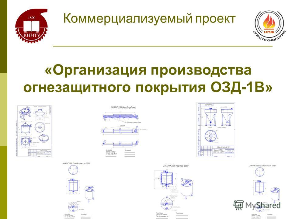 «Организация производства огнезащитного покрытия ОЗД-1В» Коммерциализуемый проект