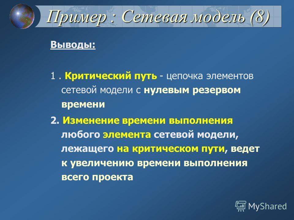 Фаза 4 Пример : Сетевая модель (7)
