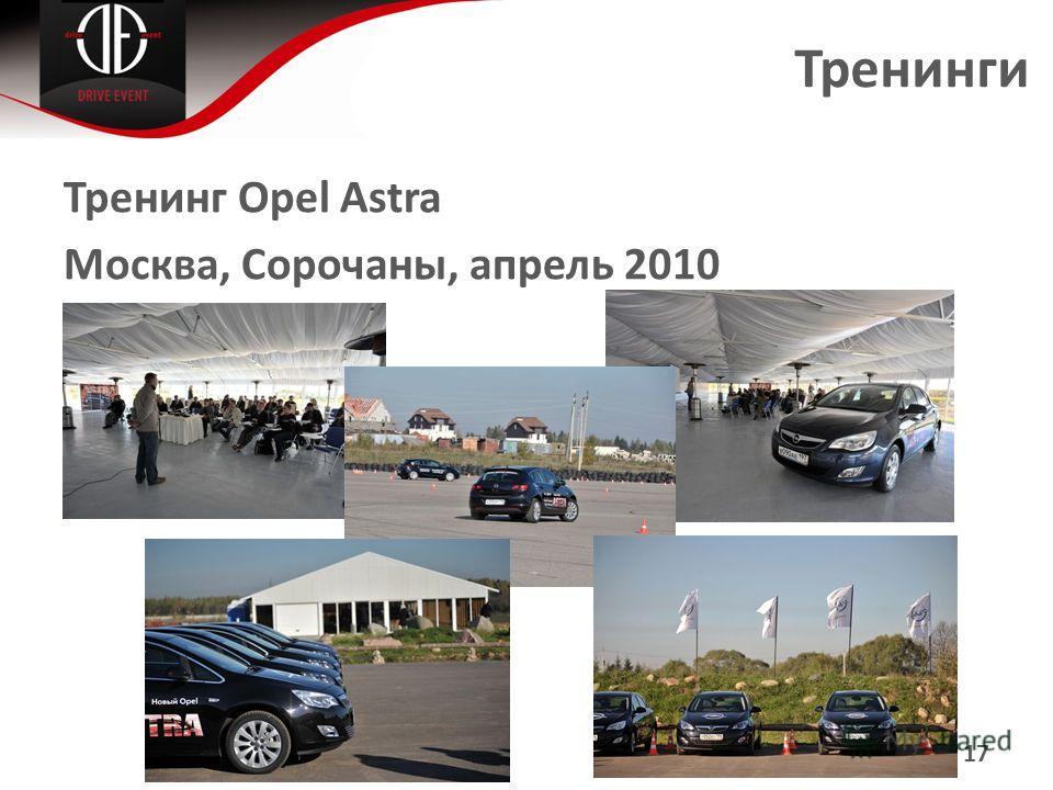 Тренинги Тренинг Opel Astra Москва, Сорочаны, апрель 2010 17