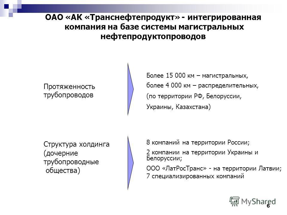 6 OAO «АК «Транснефтепродукт»
