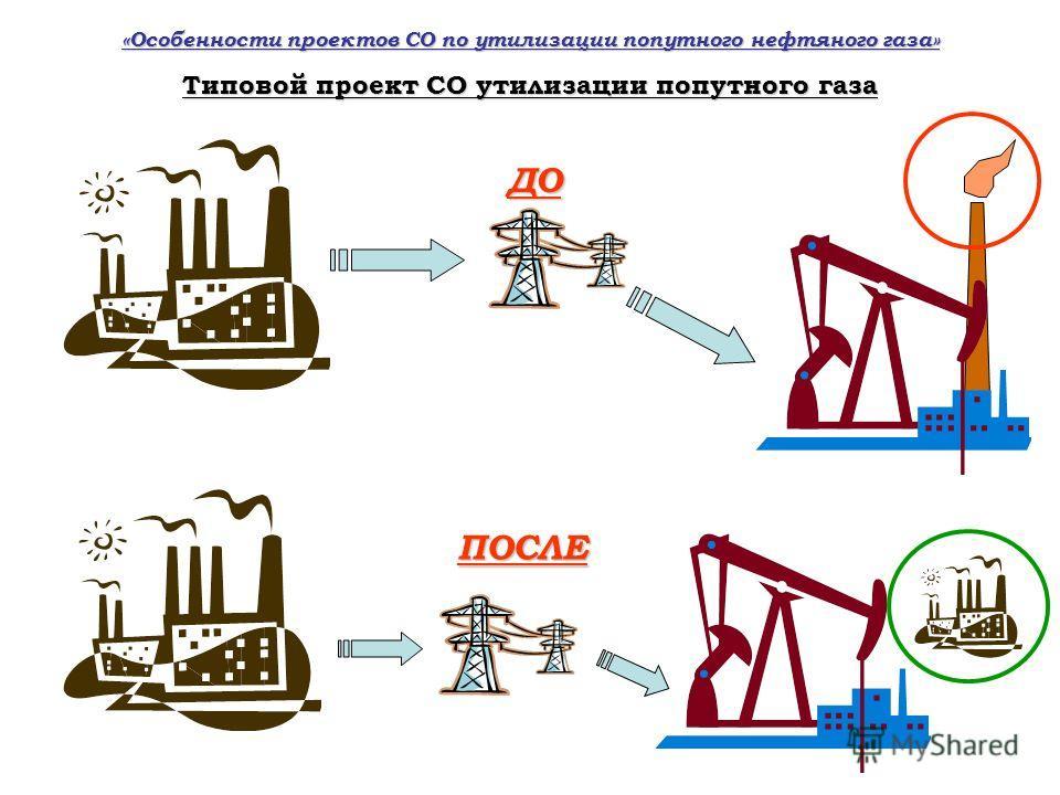 Типовой проект СО утилизации попутного газа ДО ПОСЛЕ