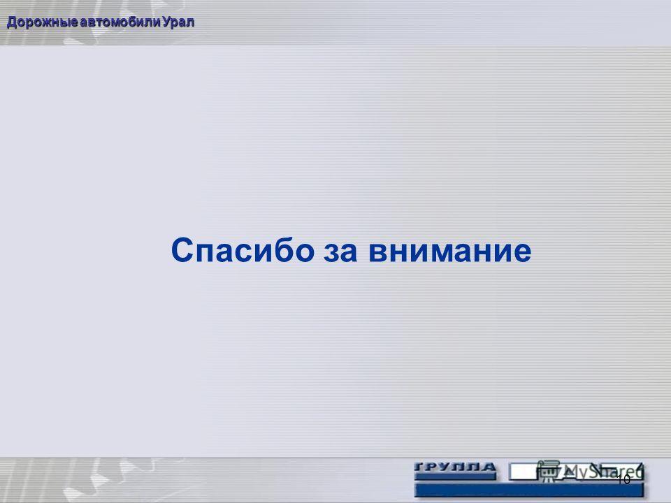 10 Дорожные автомобили Урал Спасибо за внимание
