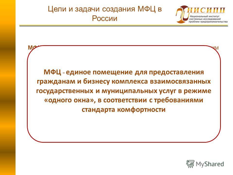 МФЦ – организация, уполномоченная (учрежденная) высшим исполнительным ОГВ субъекта РФ на организацию предоставления государственных и муниципальных услуг на основании утвержденных административных регламентов предоставления государственных (муниципал