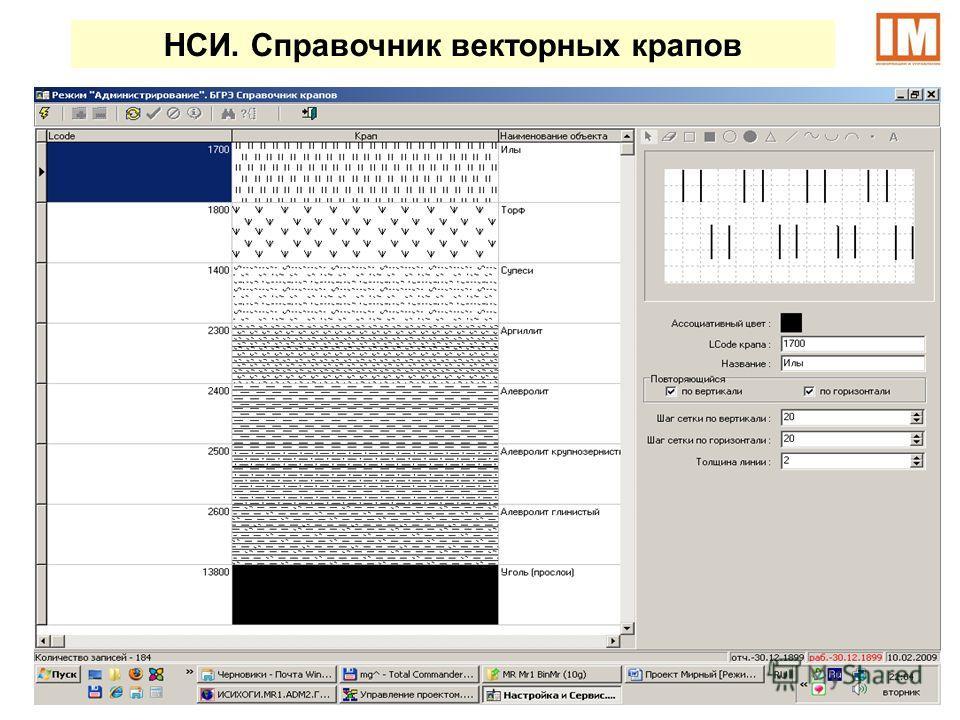 НСИ. Справочник векторных крапов