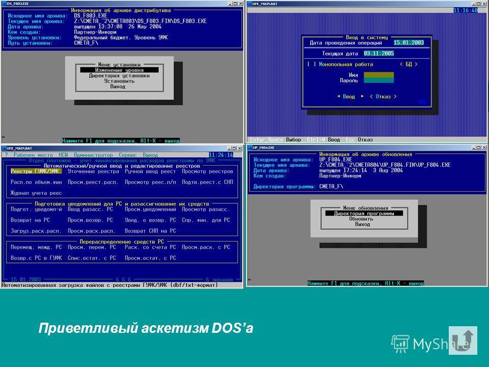 Приветливый аскетизм DOSа
