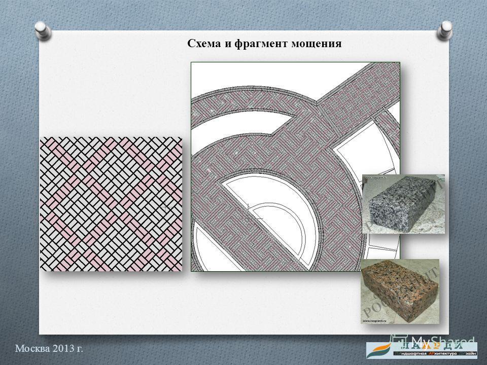 Схема и фрагмент мощения Москва 2013 г.