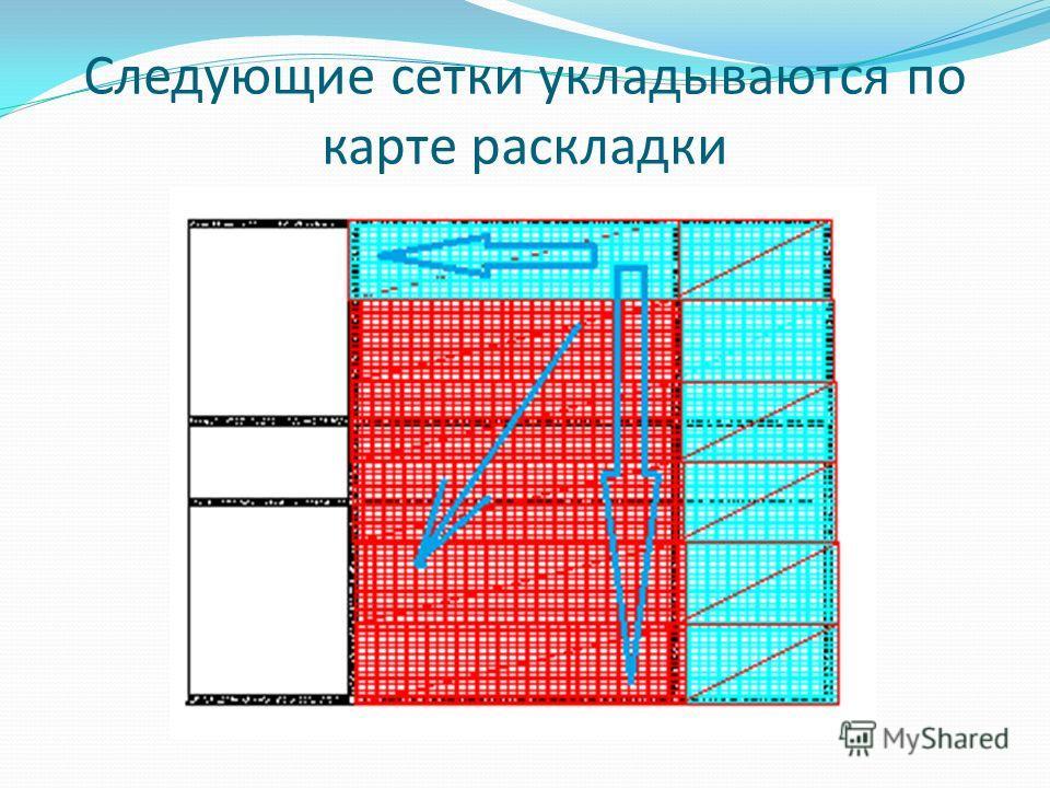 Следующие сетки укладываются по карте раскладки