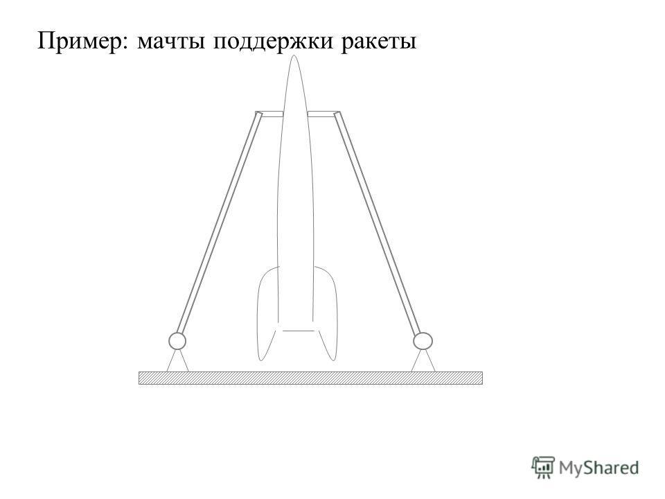 Пример: мачты поддержки ракеты