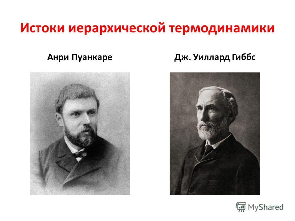 Истоки иерархической термодинамики Анри ПуанкареДж. Уиллард Гиббс