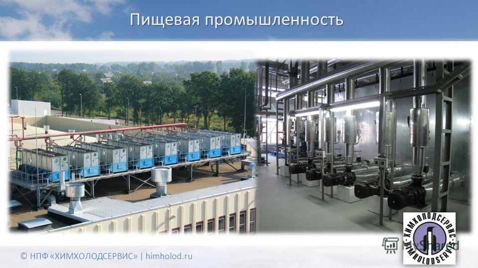 Пищевая промышленность © НПФ «ХИМХОЛОДСЕРВИС» | himholod.ru