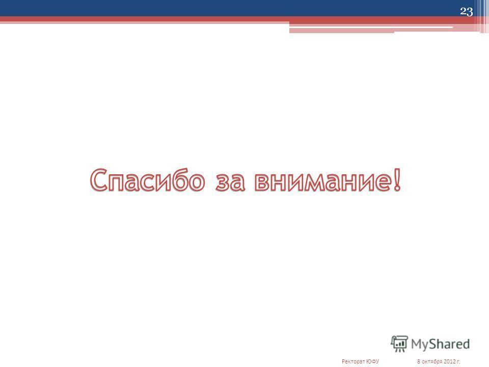 23 8 октября 2012 г.Ректорат ЮФУ