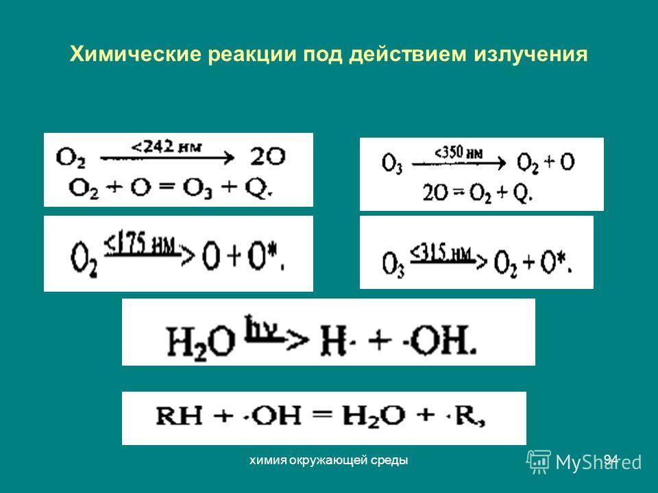 химия окружающей среды94 Химические реакции под действием излучения