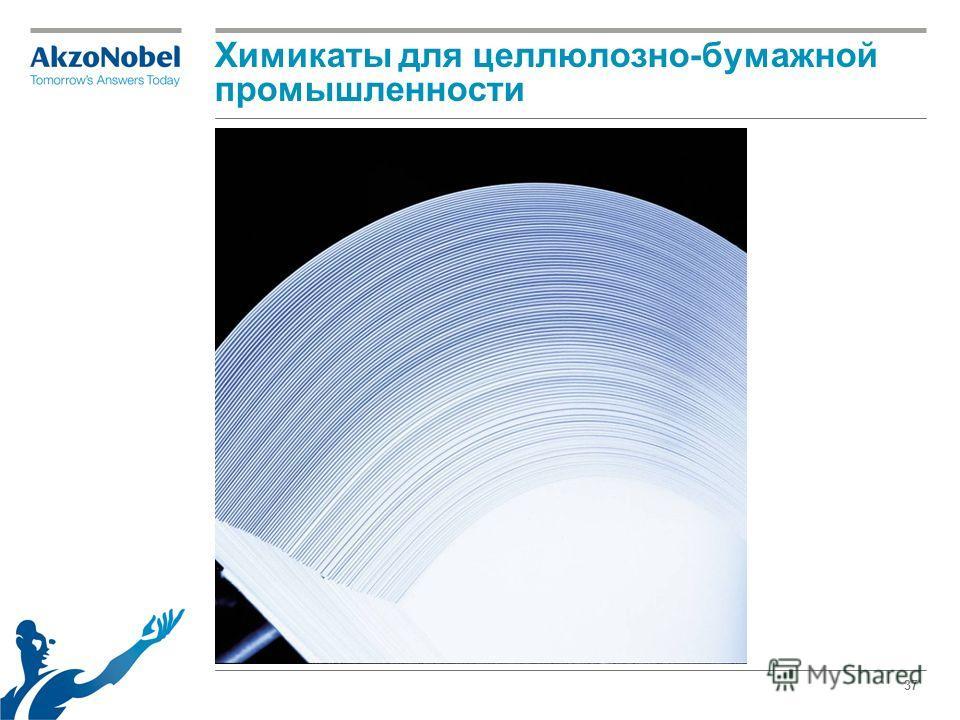 37 Химикаты для целлюлозно-бумажной промышленности