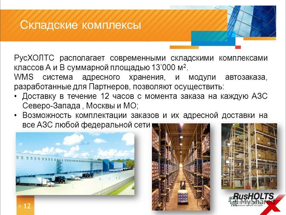 РусХОЛТС располагает современными складскими комплексами классов А и В суммарной площадью 13000 м 2. WMS система адресного хранения, и модули автозаказа, разработанные для Партнеров, позволяют осуществить: Доставку в течение 12 часов с момента заказа