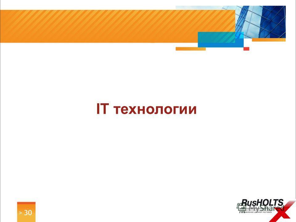 > 30 IT технологии