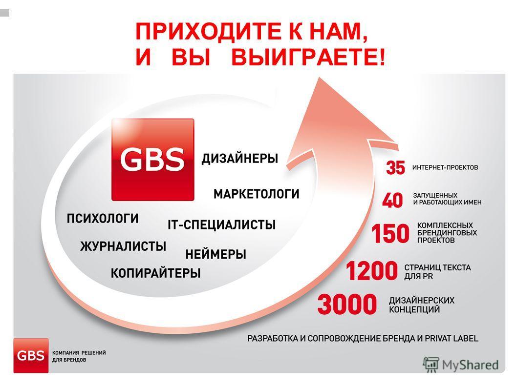 WWW.GBS.COM.UA ПРИХОДИТЕ К НАМ, И ВЫ ВЫИГРАЕТЕ!