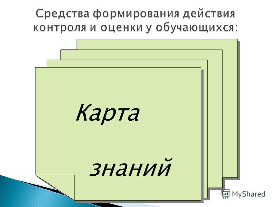 Карта знаний Карта знаний