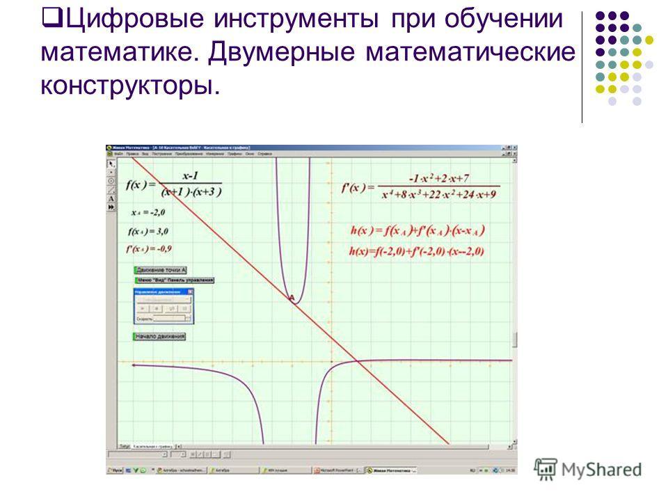 Цифровые инструменты при обучении математике. Двумерные математические конструкторы.