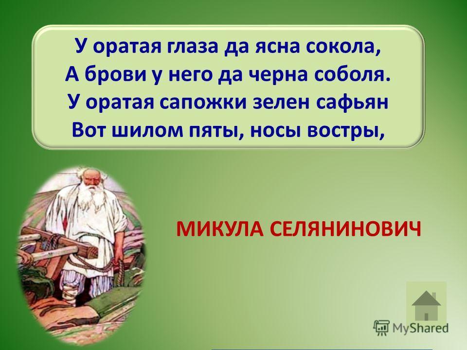 «Ай же мужичищо деревенщина! Во глазах, мужик, да подлыгаешься, Во глазах, мужик, да насмехаешься! Илья Муромец.