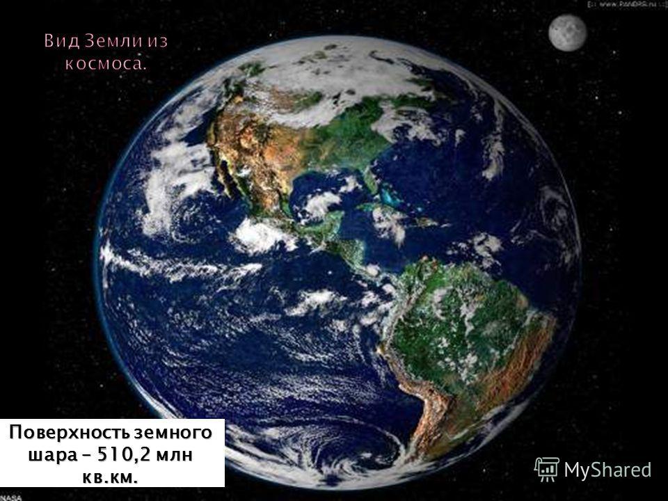 Поверхность земного шара – 510,2 млн кв.км.