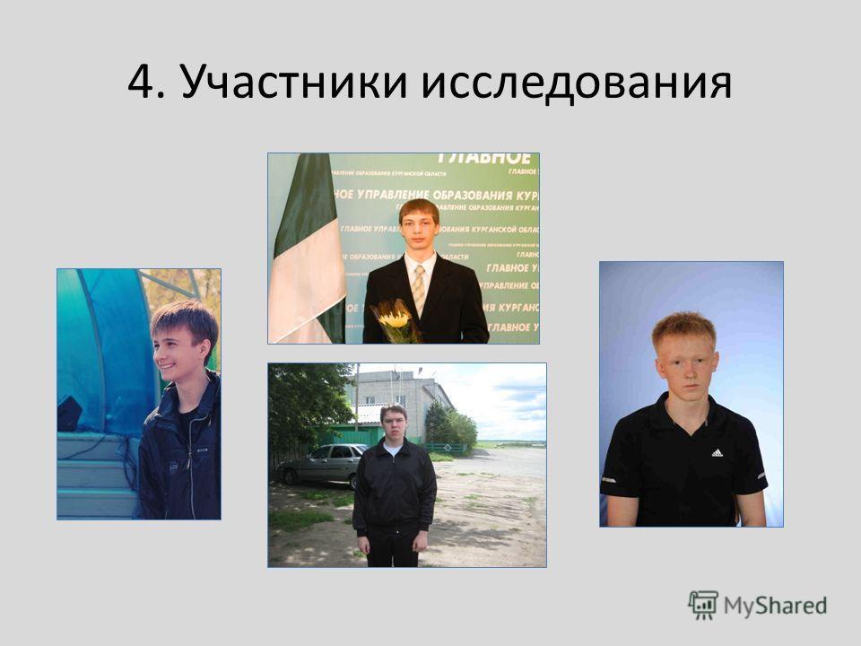 4. Участники исследования