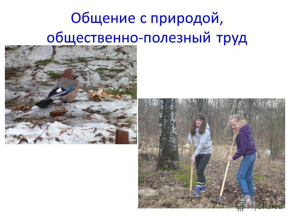 Общение с природой, общественно-полезный труд