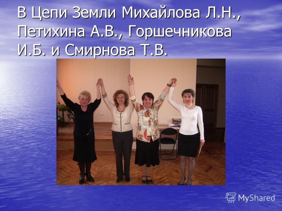 В Цепи Земли Михайлова Л.Н., Петихина А.В., Горшечникова И.Б. и Смирнова Т.В.