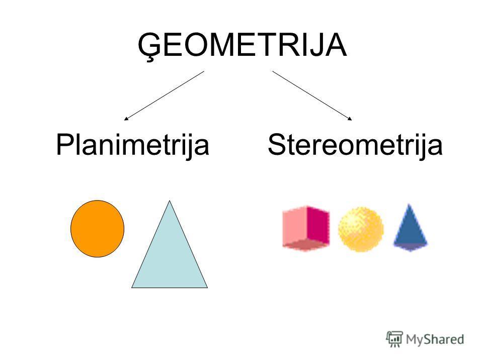 ĢEOMETRIJA Planimetrija Stereometrija