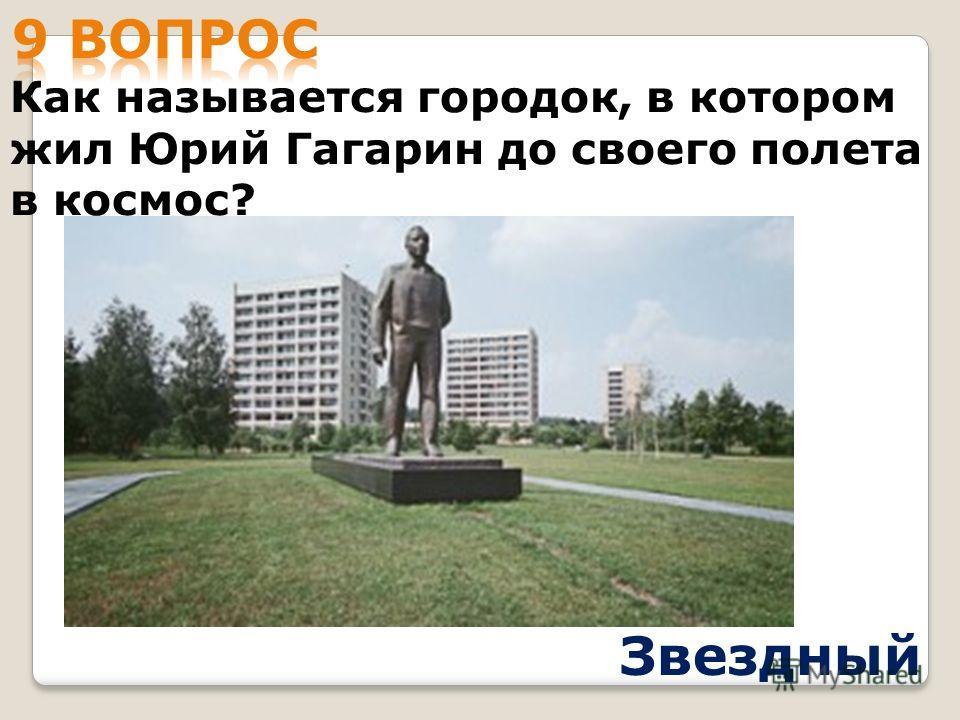 Как называется городок, в котором жил Юрий Гагарин до своего полета в космос? Звездный
