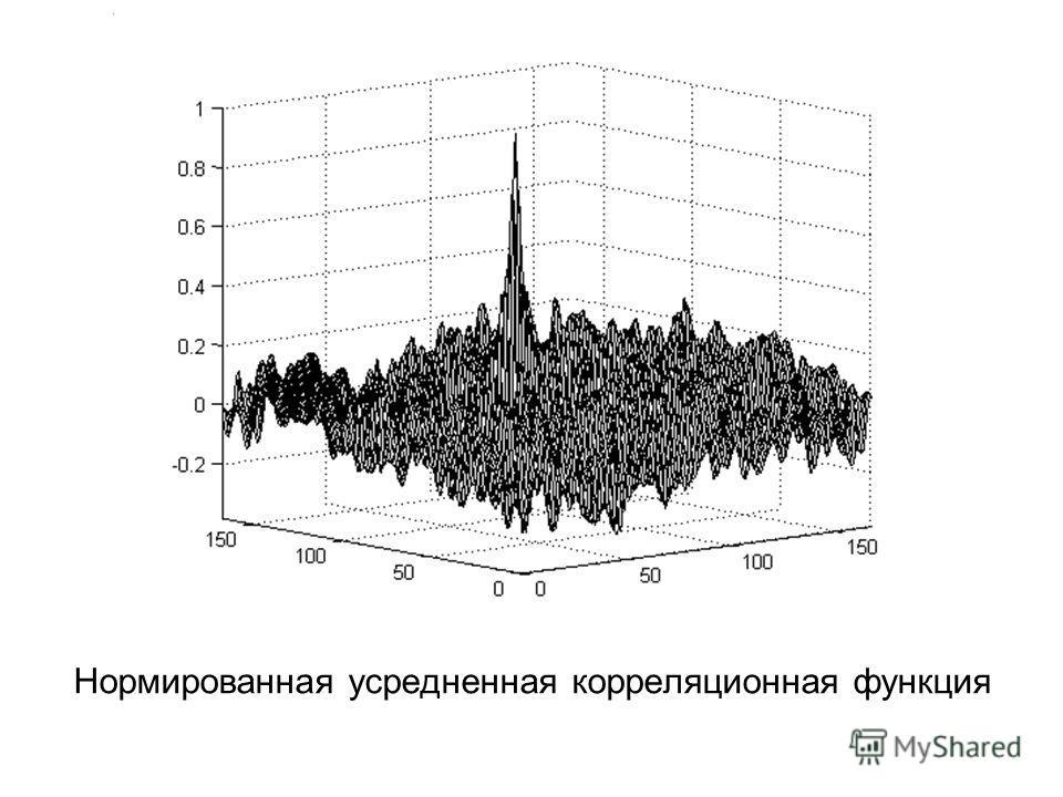 Нормированная усредненная корреляционная функция