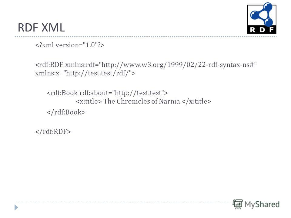 RDF XML The Chronicles of Narnia