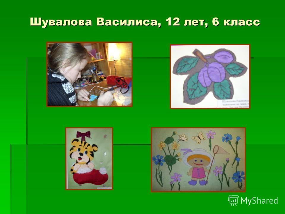 Шувалова Василиса, 12 лет, 6 класс