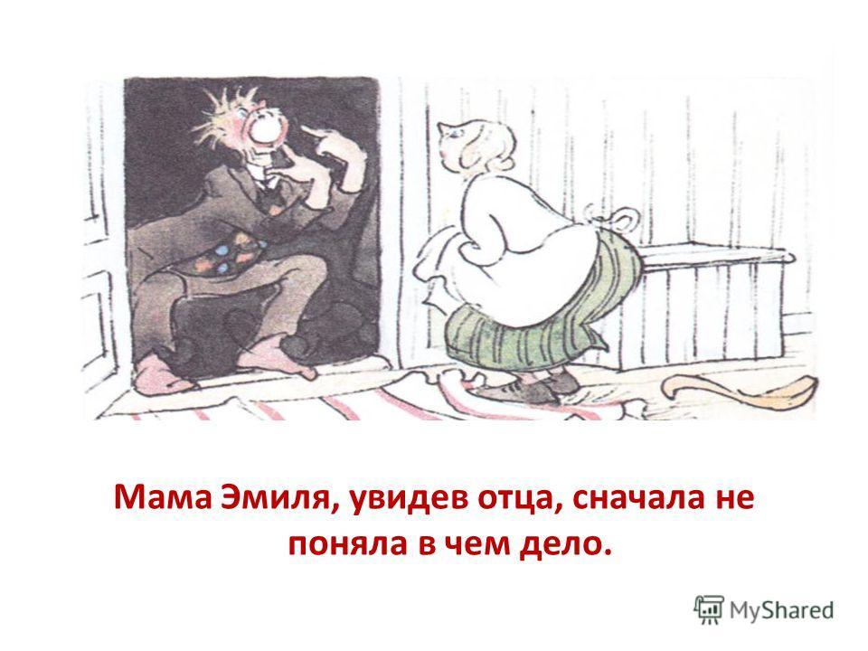 Мама Эмиля, увидев отца, сначала не поняла в чем дело.