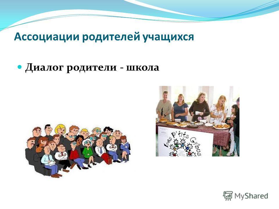 Ассоциации родителей учащихся Диалог родители - школа