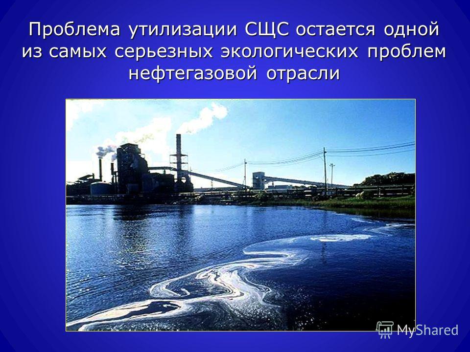 Проблема утилизации СЩС остается одной из самых серьезных экологических проблем нефтегазовой отрасли