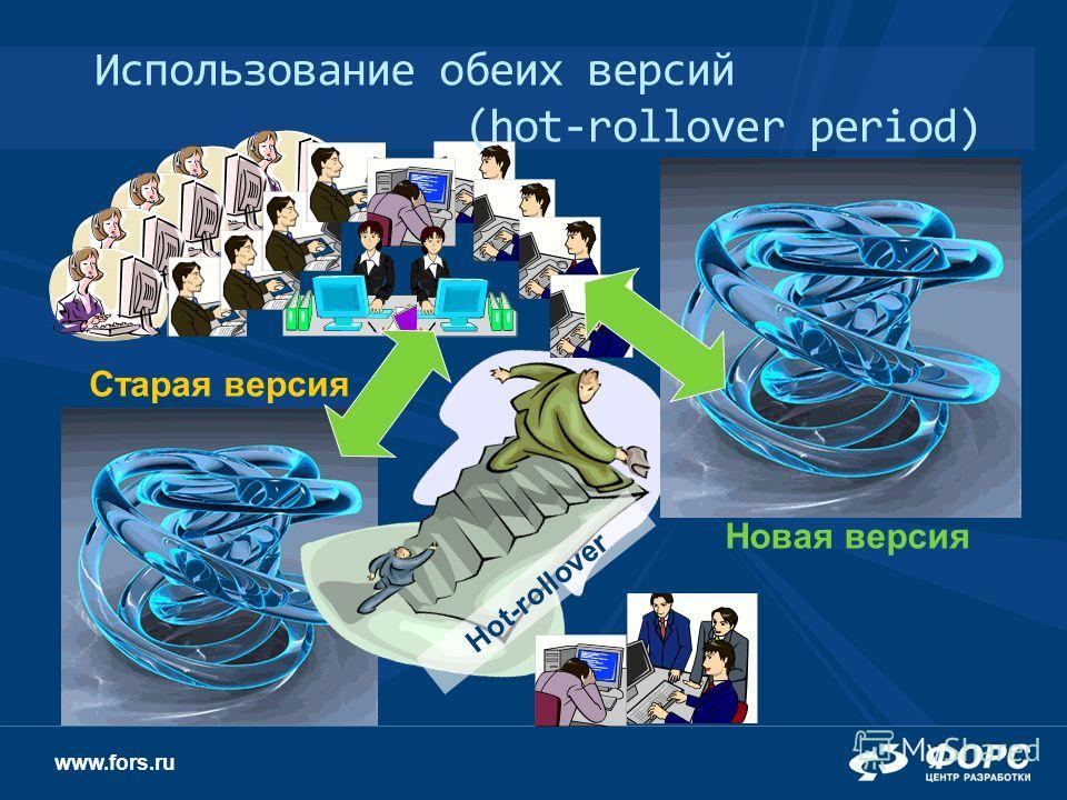 www.fors.ru Hot-rollover Старая версия Новая версия Использование обеих версий (hot-rollover period)