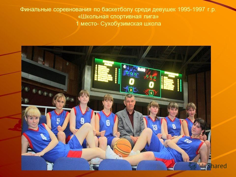 Финальные соревнования по баскетболу среди девушек 1995-1997 г.р. «Школьная спортивная лига» 1 место- Сухобузимская школа