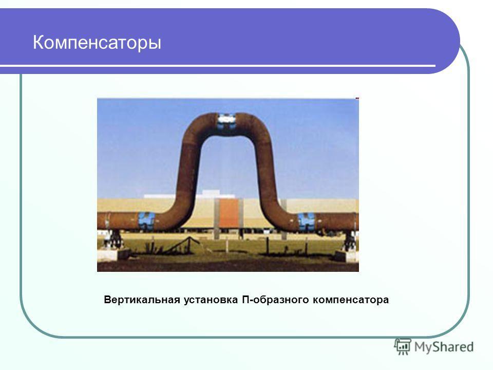Вертикальная установка П-образного компенсатора Компенсаторы