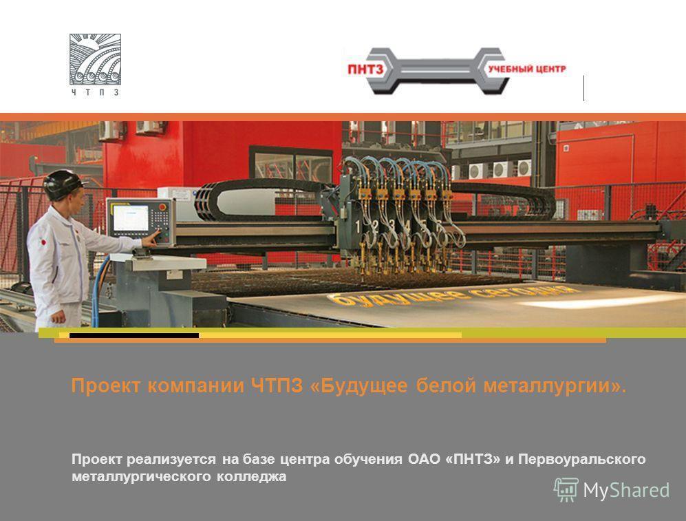 Проект компании ЧТПЗ «Будущее белой металлургии». Проект реализуется на базе центра обучения ОАО «ПНТЗ» и Первоуральского металлургического колледжа