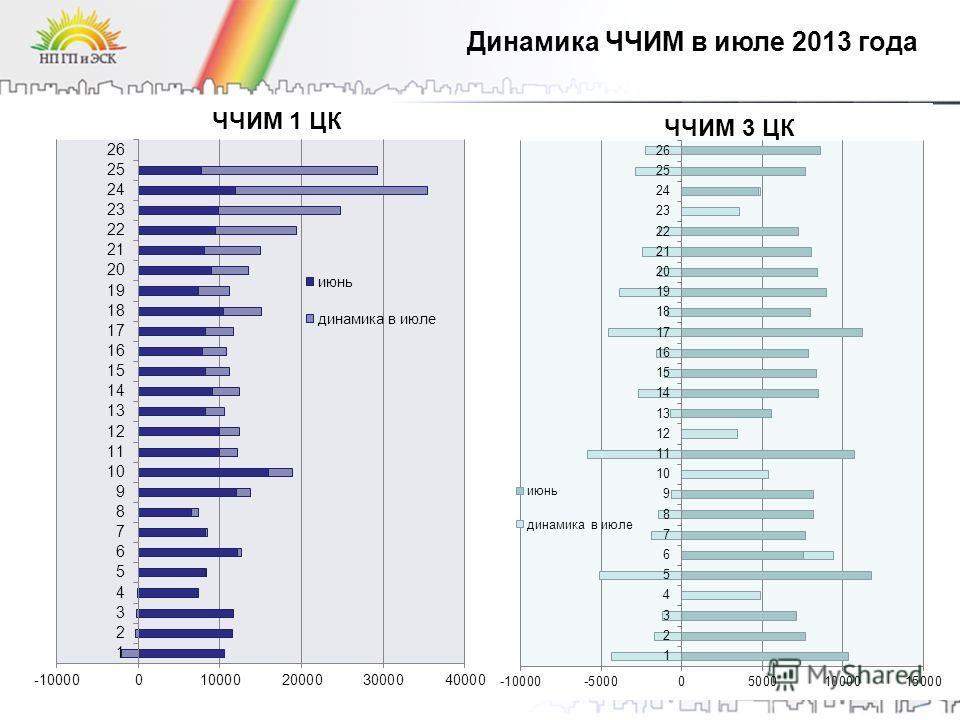 19 Динамика ЧЧИМ в июле 2013 года