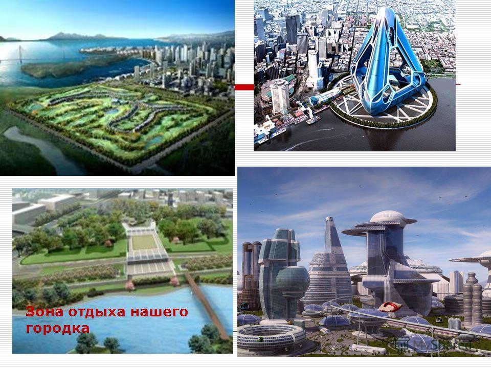 Город будущего Квартал нашего города Зона отдыха нашего городка