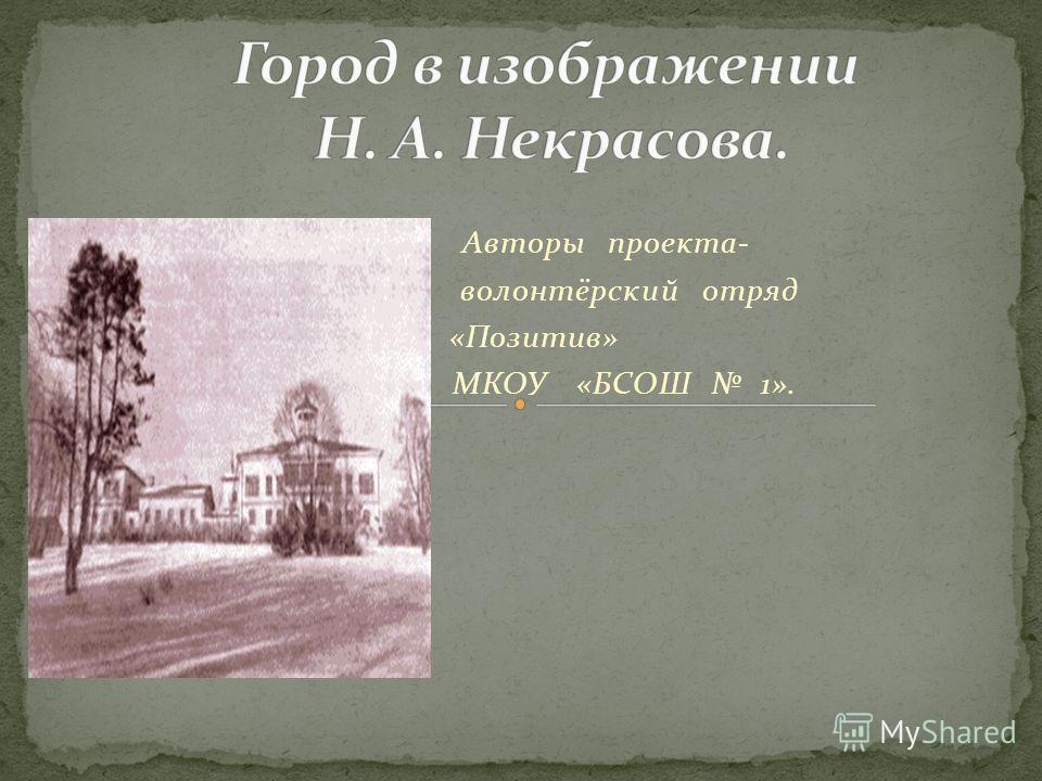 Авторы проекта- волонтёрский отряд «Позитив» МКОУ «БСОШ 1».